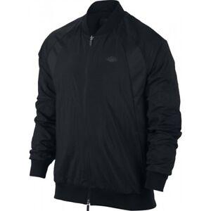 Nike-Air-Jordan-Mens-Wings-Woven-Jacket-843100-010-Black-Retro-I-II-NEW