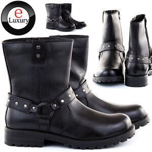 Stivali-Stivaletti-Scarpe-Uomo-Pelle-PU-Polacchini-Anfibi-Sneakers-Camperos-S51