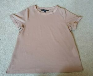 French-Connection-Tan-Cotton-Top-Uk-Size-Small