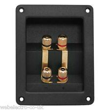 05264 CHASSIS Binding Post BI-WIRING morsetti Banana Altoparlante Socket 2x2 polacchi