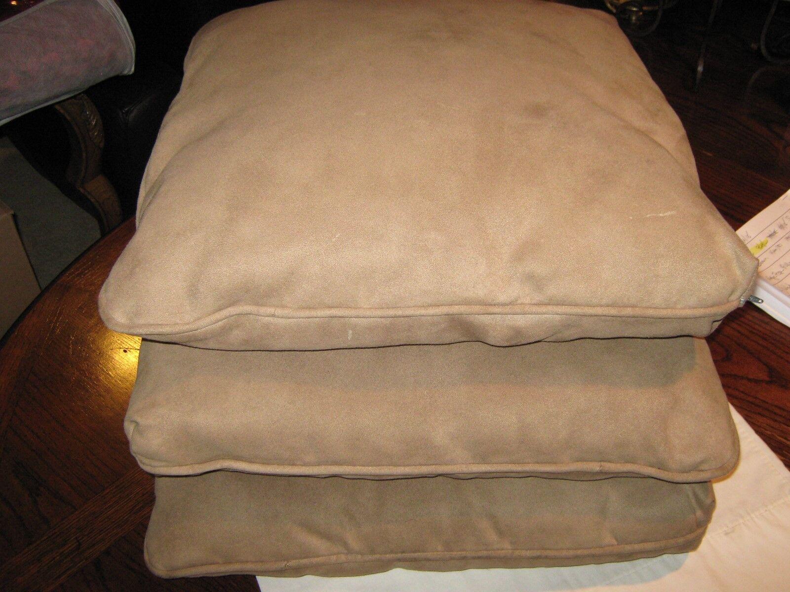 "Suade Square Pillows , Set of 3 , 20"" x 20"""