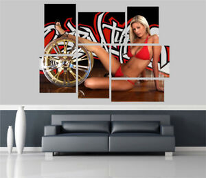 Sexy-Lady-Chicks-n-Cars-Removable-Self-Adhesive-Wall-Picture-Poster-1014