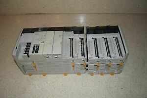 OMRON CQM1H-CPU21 PROGRAMMABLE CONTROLLER W/PA203 POWER UNIT & MORE (MQ)