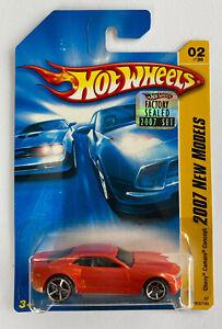 2007-HOTWHEELS-Chevy-Camaro-Concept-V8-Scheda-a-lungo-1-500-Set-Nuovo-di-zecca-molto-rara