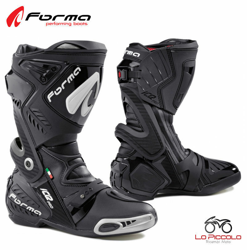 FORV220 99 Boots Black Forma Ice Pro Road Racing Driving Race Motorcycle Size 47