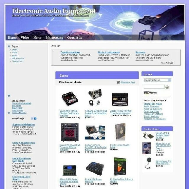 Electronic Online Audio Equipment Business Website For Sale! Free Domain Name!