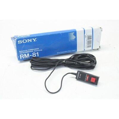 Temperate Sony Rm-81 Start/stop Remote For Betamovie Bmc-110 Broadcast Video Camera Nos! Cameras & Photo
