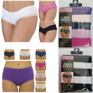 Image is loading Ladies-Cotton-Polyester-Briefs-Womens-Pants-Underwear-12- 7547822b6