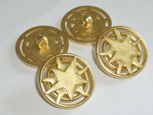 6 Pièces Bouton Boutons ösenknopf 25,5 mm or article neuf 0261