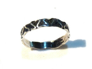 Bijou-argent-925-Mexico-bague-anneau-cisele-emaille-taille-54-ring