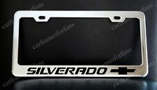 Chevy Silverado License Plate Frame Custom Made Of Chrome Plated Metal