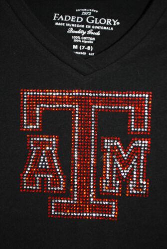Texas A /& M  children/'s rhinestone Bling Tshirt