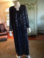 J. Kara York Full Length Evening Gown & Long Sheer Coat, 6 All Beaded, Form