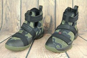 f00ee07d709 Nike LeBron Soldier 10 SFG GS Sneaker Camo Black Bamboo Olive Size ...