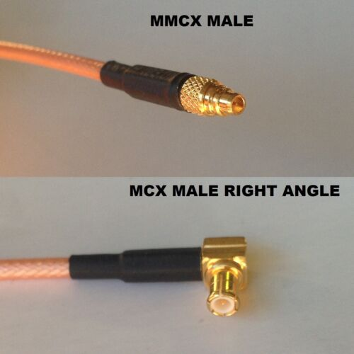 RG316 MMCX MALE to MCX MALE ANGLE Coaxial RF Cable USA-US