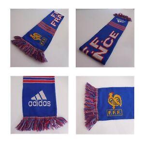 Echarpe-Federation-Francaise-Football-Adidas-made-in-UK-coq-sportif-FFF-N4103