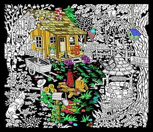 Cabin Well - Large 23x20 Inch Fuzzy Velvet Coloring Poster ...