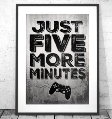 Playstation Set Of Four Prints Grey Gamer Boys Bedroom Decor Home Console A4