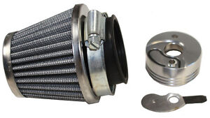 Performance-44mm-Cone-Air-Filter-Kit-w-V-stack-choke-for-43cc-49cc-Scooters