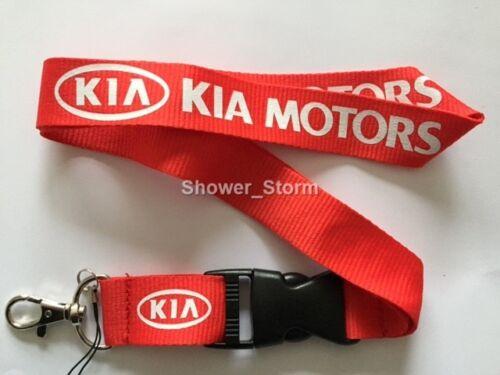 Red White KIA Lanyard NEW UK Seller Keyring ID Holder Strap