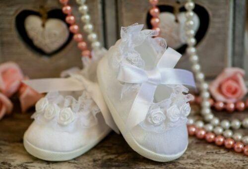 Babyschuhe Taufschuhe weiss ♥Taufe  ♥ Schuhe