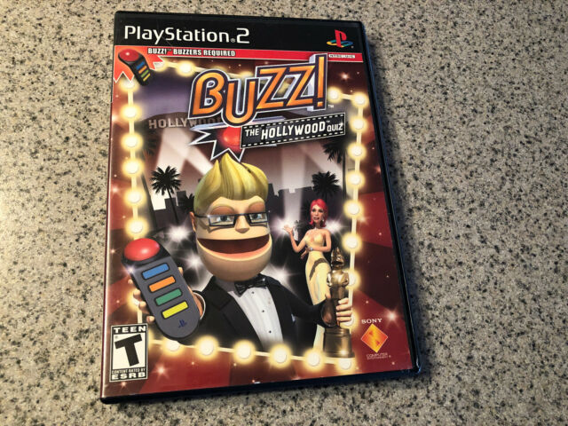 PLAYSTATION 2 BUZZ! THE HOLLYWOOD QUIZ GAME WITH MANUAL Ps2