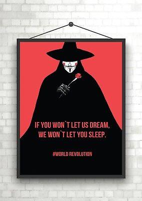 V For Vendetta Classic Movie Large Poster Art Print Maxi A0 A1 A2 A3 A4