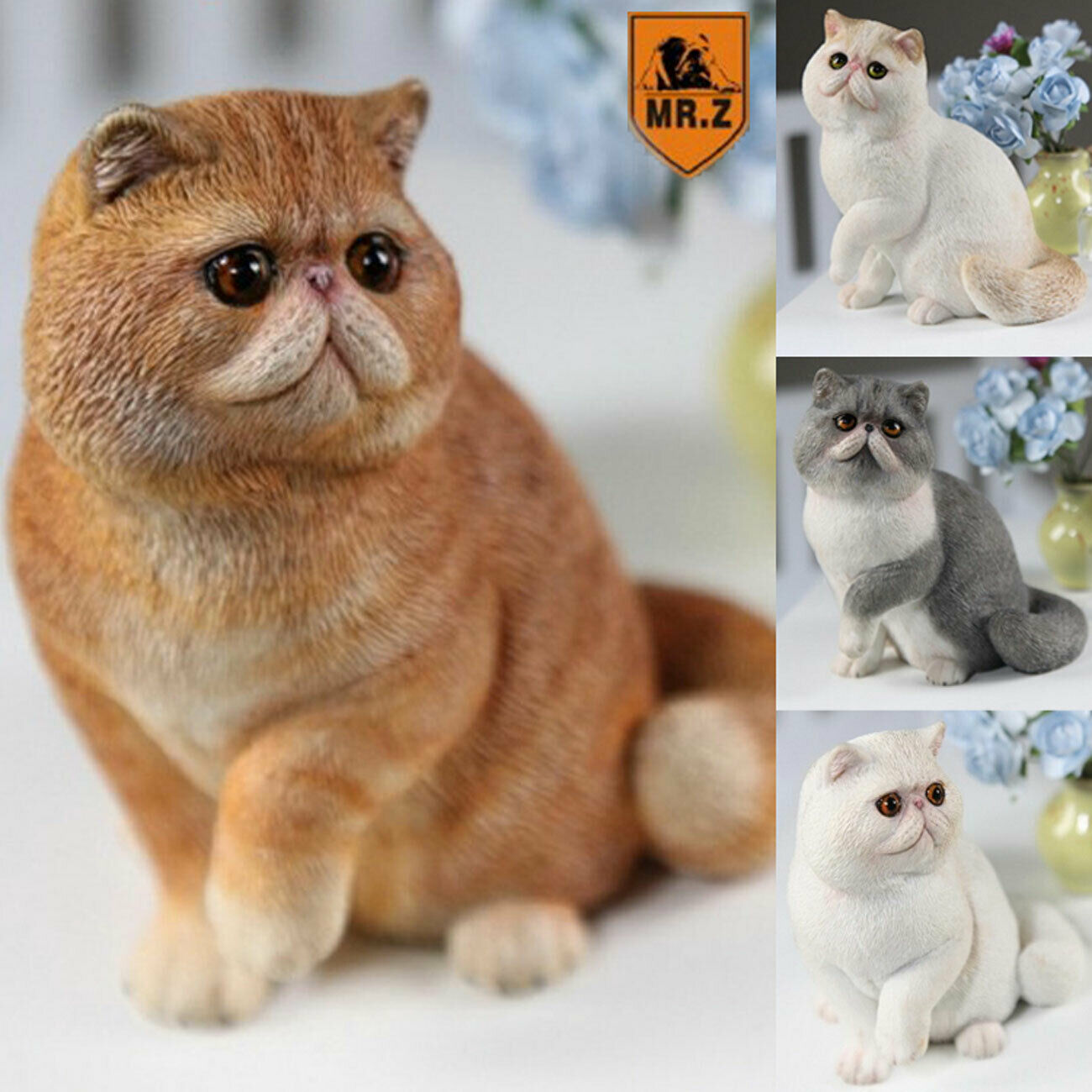 1 6th Mr.Z Exotic Shorthair Garfield Resin Simulation Figure Decoration Model