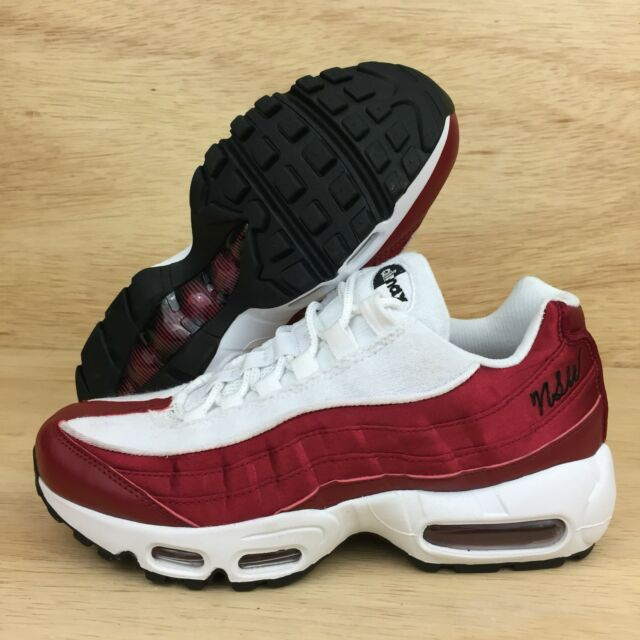Nike Air Max 95 LX NSW Womens Sz 7.5 Red Crush White Running Shoes