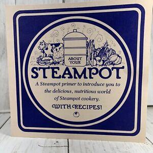 Rare-Taylor-and-Ng-Steampot-Recipes-Brochure-1977-Vintage