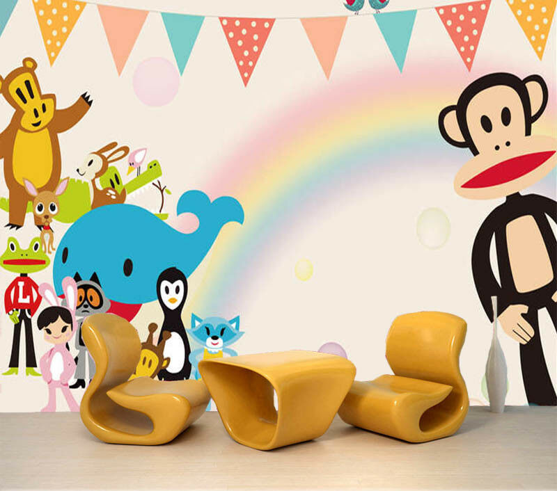 Adorkable Monkey 3D Full Wall Mural Photo Wallpaper Printing Home Kids Decor