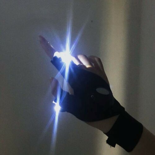 LED Atomic Lights Beam Gloves Flashing Rave Finger Up Lighting Outdoor Glow Work