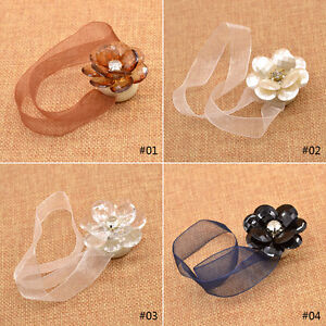 Magnetic-Tiebacks-Curtain-Tie-Back-Crystal-Mesh-Curtain-Holdback-Ribbon-1PC-New