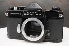 :Asahi Pentax Spotmatic SP 35mm Film SLR Black Paint Camera Body
