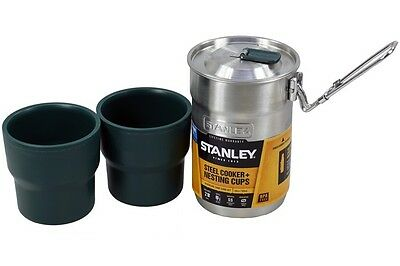 Stanley Adventure Camping Pot Stainless Steel Cooker With 2 Nesting Cups