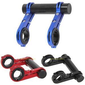 31-8mm-MTB-Bike-Handlebar-Extended-Light-Watch-Bracket-Carbon-Fiber-Mount-Holder