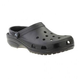 bc7808e552401 Crocs Adults Mens Unisex Classic Croslite Clogs Roomy Fit Black UK ...