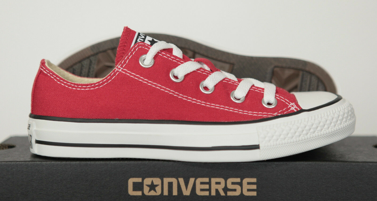 Neu All Star Converse Chucks Low Sneaker Ox Can ROT M9696 10-13 Gr.35 UK 3