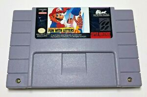 Mario-039-s-Early-Years-FUN-WITH-LETTERS-Super-Nintendo-SNES-Game-Cartridge-Retro