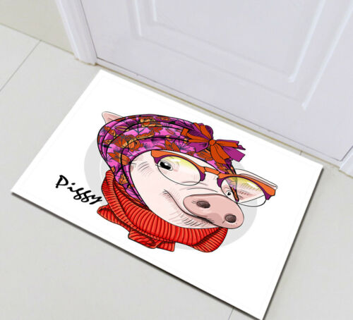 Funny Piggy with Scarf Shower Curtain Bath Accessory Sets Polyester Fabric Hooks