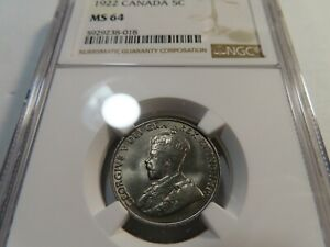 M7-Canada-1922-5-Cents-NGC-MS-64