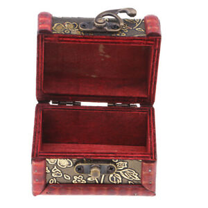 Chinese Vintage Style Wooden Jewelry Box Necklace Storage ...