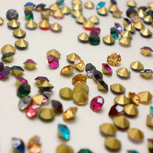 Mixed-Colours-Point-back-Rhinestones-Crystal-Glass-Strass-Chatons-Nail-Art-U2