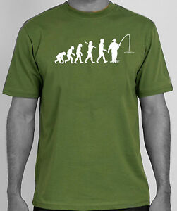 EVOLUTION OF MAN TO BOAT FISHING funny angling fisherman Dad Fathers day T Shirt