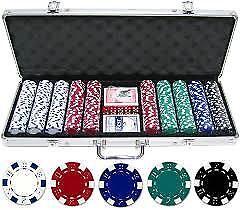 Intelligent Casino Style Vegas Poker Set Jetons Dés Cartes à Jouer Aluminium Box-afficher Le Titre D'origine