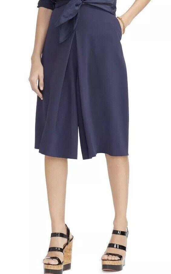Ralph Lauren Woman 20W Navy bluee Crepe Culottes NWT  125 Split Skirt Shorts