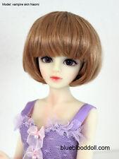 "1/4 bjd msd 7-8"" doll head copper red short wig Luts Iplehouse W-JD256SM27M"