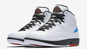Nike Air Jordan 2 II UNC size 10.5 North Carolina . Black Red Blue. 917931-900. Special limited time