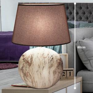 RGB LED Tisch Lampe Stoff Schirm Nacht Licht Schlaf Zimmer