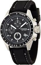 Fossil Mens CH2573 Dexter Black Chronograph Dial Silicone Strap Quartz Watch